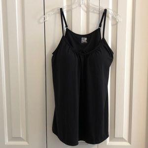 32° black camisole shelf lining sz L like new